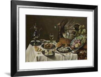 Still Life with a Turkey Pie-Pieter Claesz-Framed Art Print