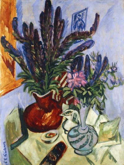 Still Life with a Vase of Flowers-Ernst Ludwig Kirchner-Giclee Print