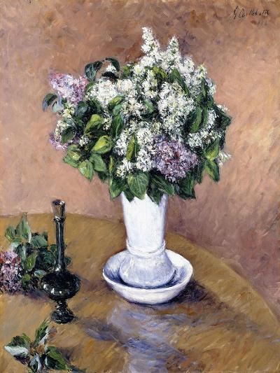 Still Life with a Vase of Lilac, 1883-Gustave Caillebotte-Giclee Print