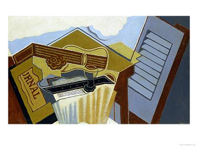 Still Life with a White Cloud-Juan Gris-Giclee Print