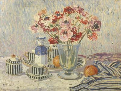 Still Life with Anemones-Paul Mathieu-Giclee Print
