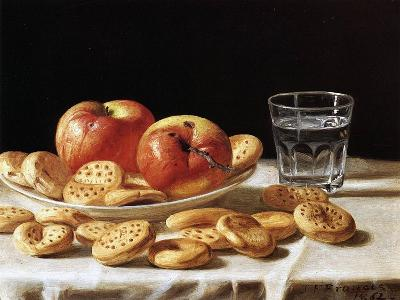 Still Life with Apples and Biscuits, 1862-John F^ Francis-Giclee Print