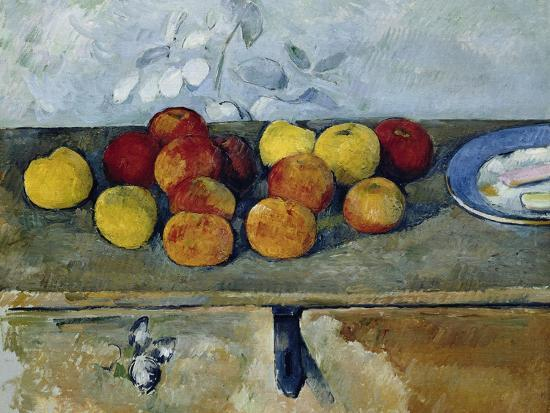 Still-Life with Apples and Cookies, 1879-82-Paul C?zanne-Giclee Print