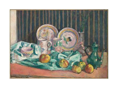 Still Life with Apples and Fruit Dishes, C.1906-Emile Bernard-Giclee Print