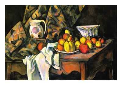 Still Life with Apples and Peaches-Paul C?zanne-Art Print
