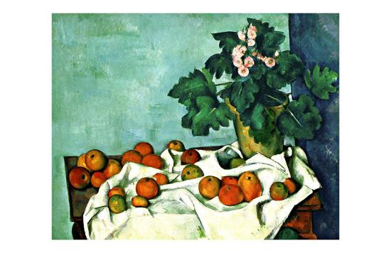 Still Life with Apples and Primroses--Giclee Print