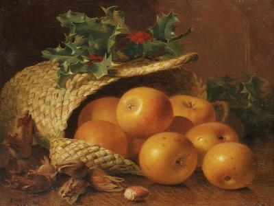 Still Life with Apples, Hazelnuts and Holly, 1898-Eloise Harriet Stannard-Giclee Print