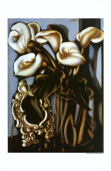 Still Life with Arum Lilies and Mirror, c.1935-Tamara de Lempicka-Art Print