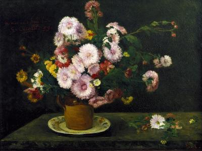 Still Life with Asters, 1859-Gustave Courbet-Giclee Print