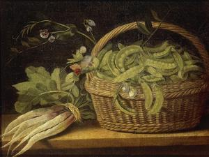 Still Life with Basket, Peas and Turnips