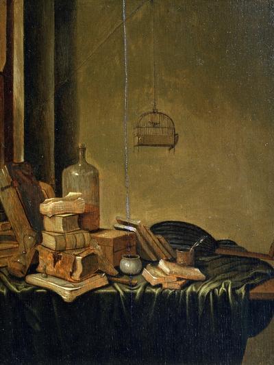 Still Life with Books, 17th Century-Gerrit van Vucht-Giclee Print