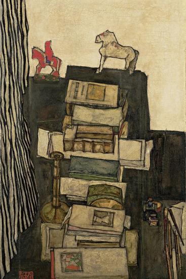 Still Life with Books, 1914-Egon Schiele-Giclee Print