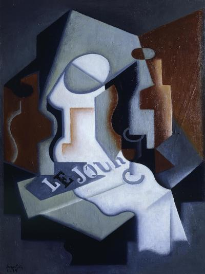 Still Life with Bottle and Fruit-Juan Gris-Giclee Print