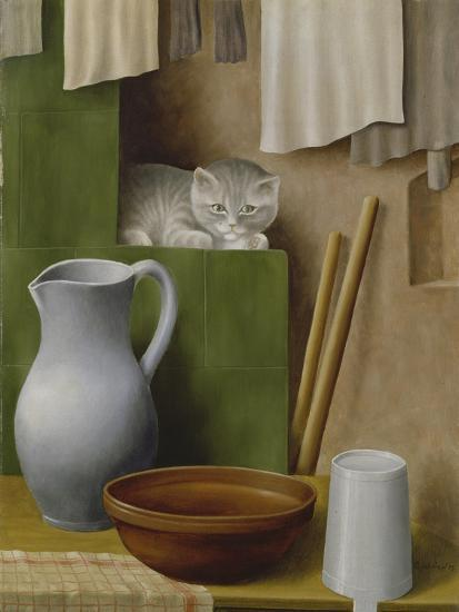 Still Life with Cat, 1923-Georg Schrimpf-Giclee Print