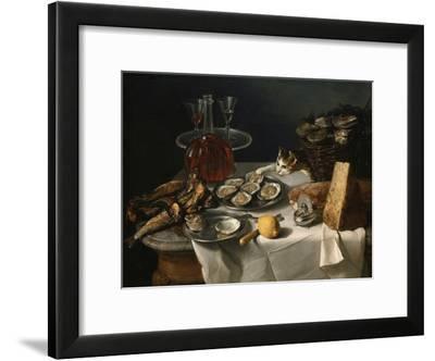 Still Life with Cat-Alexandre-Francois Desportes-Framed Giclee Print
