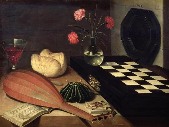 Still Life with Chess-Board, 1630-Lubin Baugin-Giclee Print
