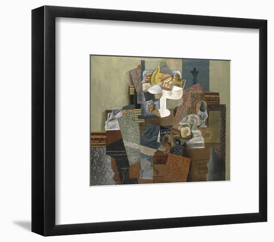 Still Life with Compote and Glass, Winter 1914-16-Pablo Picasso-Framed Art Print