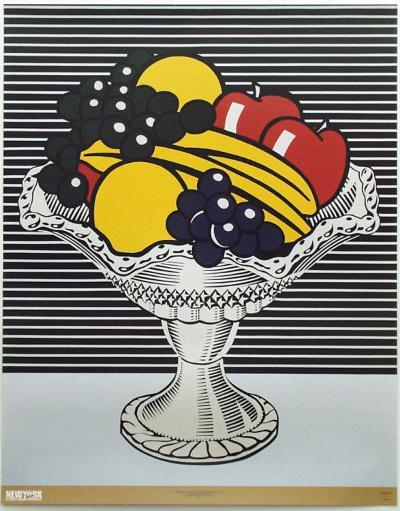 Still Life with Crystal Bowl-Roy Lichtenstein-Collectable Print
