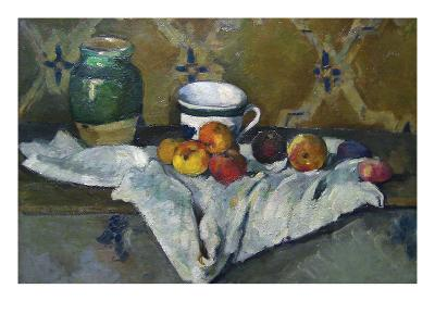 Still Life with Cup, Jar and Apples-Paul C?zanne-Art Print