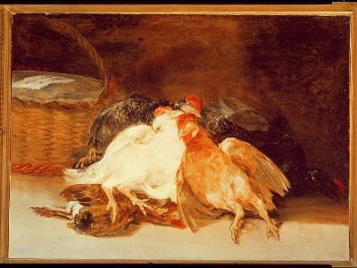 Still Life with Dead Chickens and a Wicker Basket-Francisco de Goya-Giclee Print