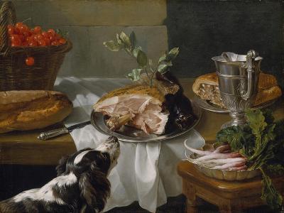 Still Life with Dog-Alexandre-Francois Desportes-Giclee Print