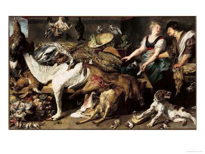 Still-Life With Dogs and Puppies-Frans Snyders-Giclee Print