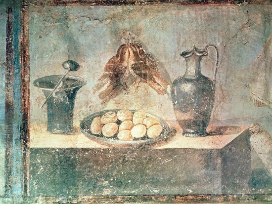 Still Life with Eggs and Thrushes, from the Villa Di Giulia Felice, Pompeii--Giclee Print