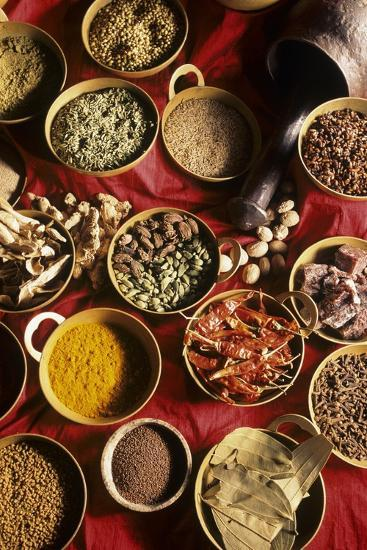 Still Life with Exotic Spices-Frederic Vasseur-Photographic Print
