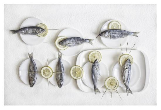 Still Life With Fish-Dimitar Lazarov-Giclee Print