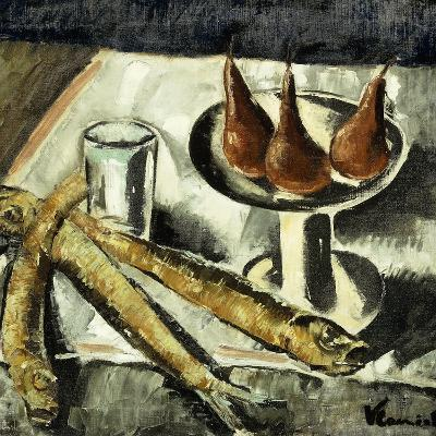 Still-life with Fish-Maurice Vlaminck-Giclee Print
