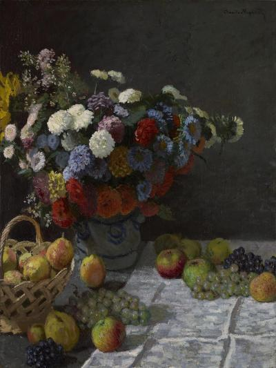 Still Life with Flowers and Fruit, 1869-Claude Monet-Giclee Print