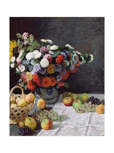 Still Life with Flowers and Fruit-Claude Monet-Giclee Print