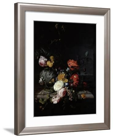 Still Life with Flowers and Insects-Jacob van Walscapelle-Framed Giclee Print