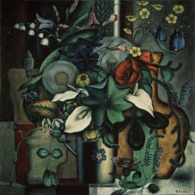 Still Life with Flowers and Jug, 1929-Ivan Vassilyevich Klyun-Giclee Print