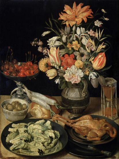 Still Life with Flowers and Snack, C1630-C1635-Georg Flegel-Giclee Print