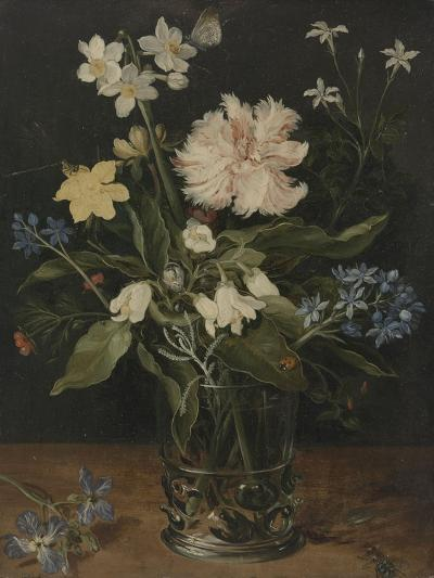 Still Life with Flowers in a Glass, 1630-Jan Brueghel the Elder-Giclee Print