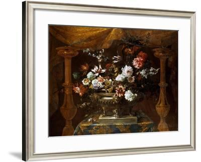 Still Life with Flowers in a Silver Vase with Perfume Burners, C.1690-99-Jean-Baptiste Monnoyer-Framed Giclee Print