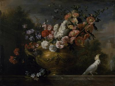 Still Life with Flowers in an Urn, with a Cockatoo, on a Ledge, C.1699-Jakob Bogdani Or Bogdany-Giclee Print