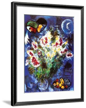 Still Life with Flowers-Marc Chagall-Framed Art Print