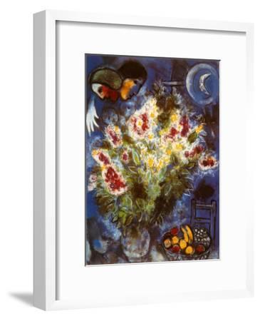 Still Life with Flowers-Marc Chagall-Framed Art Print