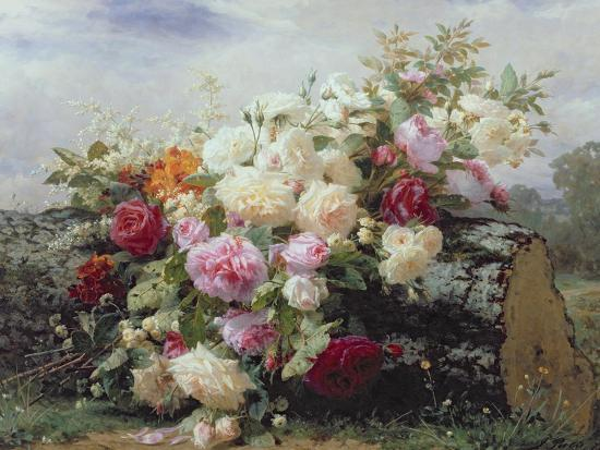 Still Life with Flowers-Jean Baptiste Claude Robie-Giclee Print