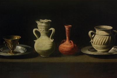 Still Life with Four Vessels-Francisco de Zurbar?n-Giclee Print