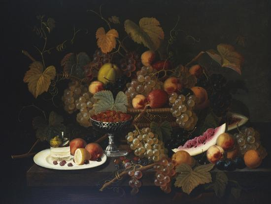Still Life with Fruit, 1852-Severin Roesen-Giclee Print
