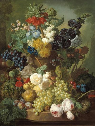 Still Life with Fruit and Flowers-Jan van Os-Giclee Print