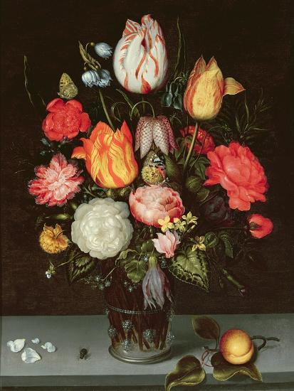 Still Life with Fruit and Flowers-Ambrosius The Elder Bosschaert-Giclee Print