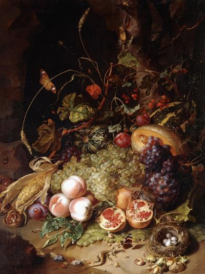 Still-Life with Fruit and Insects-Rachel Ruysch-Giclee Print