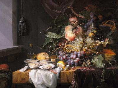 Still Life with Fruit and Oysters-Jacob van Walscapelle-Giclee Print