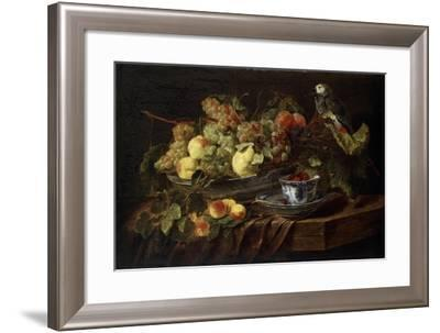 Still Life with Fruit and Parrot, 1645-Jan Fyt-Framed Giclee Print
