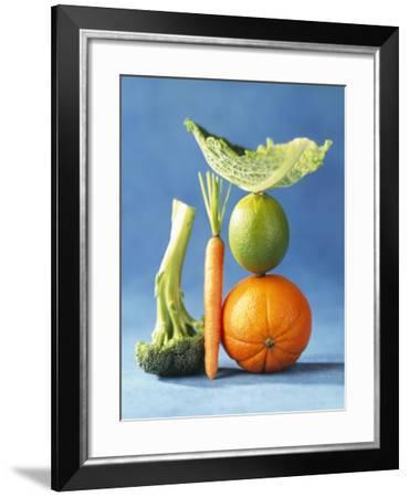 Still Life with Fruit and Vegetables-Diana Miller-Framed Photographic Print