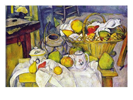 Still Life with Fruit Basket-Paul C?zanne-Art Print